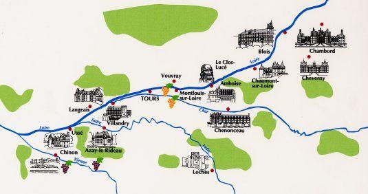 château de la loire carte Carte des Excursions, chateaux tour in Loire Valley by minibus