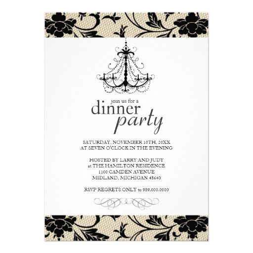 Fancy Dinner Party Invitations Partay Pinterest