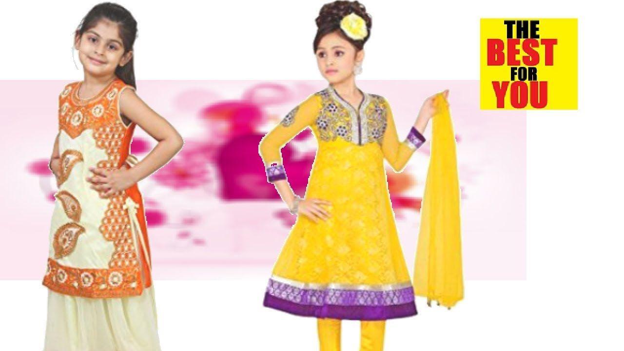 3bf127fa19 Fashion Indian Dresses for Girls kids Dress Designs wedding amazon shop.
