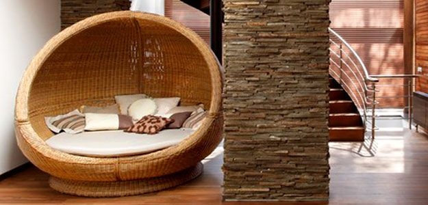 Wicker Day Bed / Sleeping Eggu2013 Forester House By Roman Leonidov.  Contemporary Outdoor FurnitureOutdoor ...