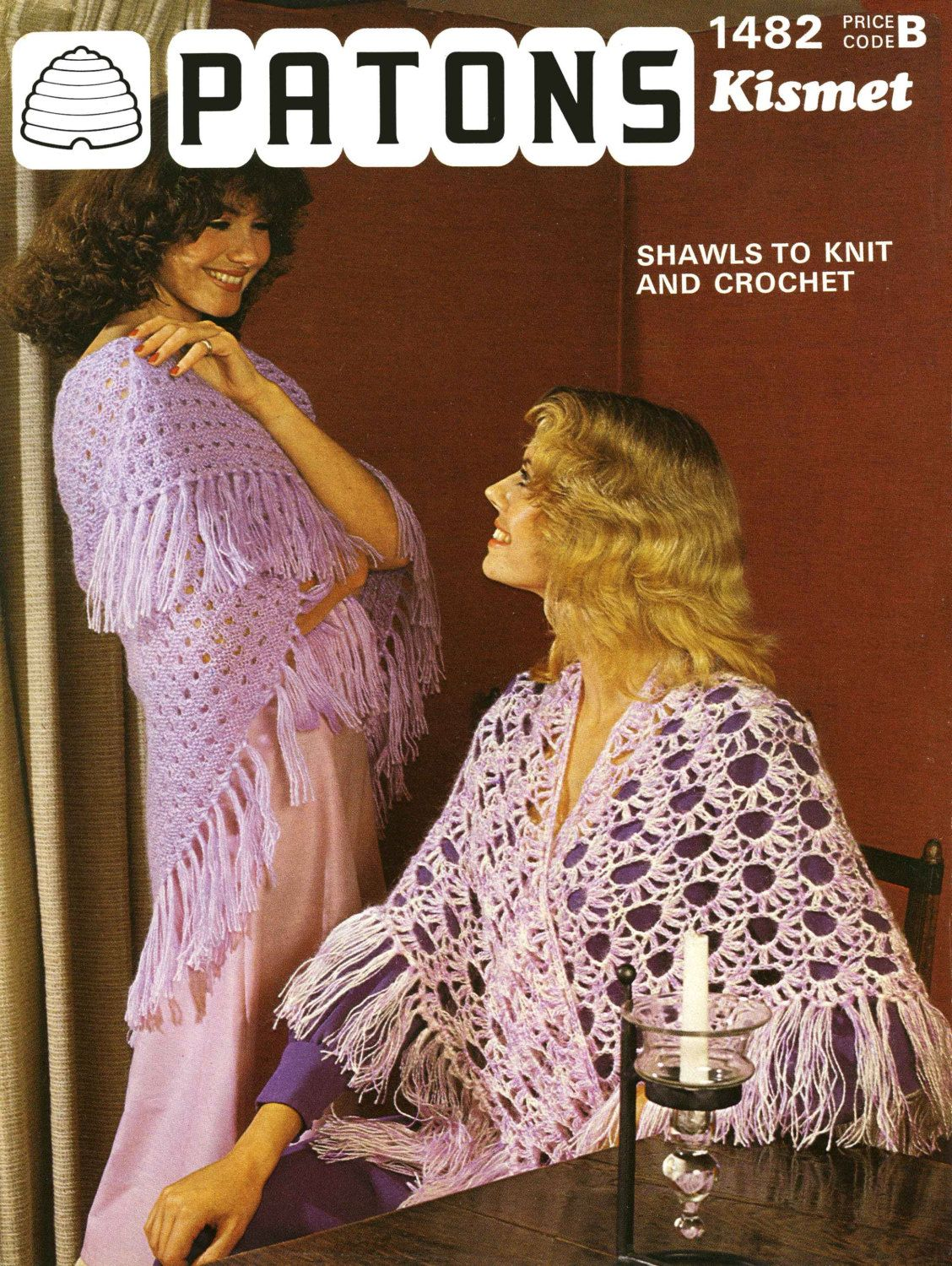Vintage Ladies Shawl, Crochet or Knitting Pattern, 1960/1970 (PDF ...