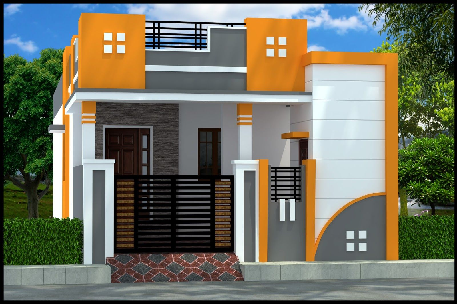 Pin By B Srinivasarao On Individual House Elevation Facade House
