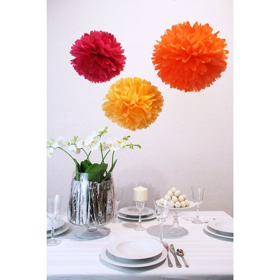 Pom Pom Manufaktur pretty decorations indian summer pom pom set by pompomd
