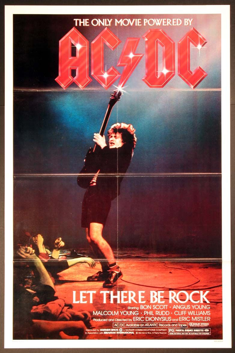 AC/DC LET THERE BE ROCK (1982) Original one sheet size ...