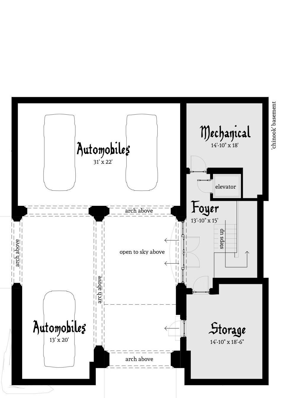 Maisons sur mesure · basement floor plan