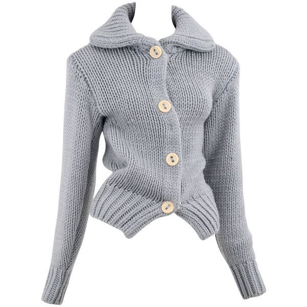 d812ea4cc7f0 Pre-owned Margiela Baby Blue Sweater (1 865 AUD) ❤ liked on ...