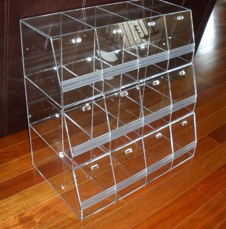 Acrylic Multi Bin System Acrylic Container Candy Display In