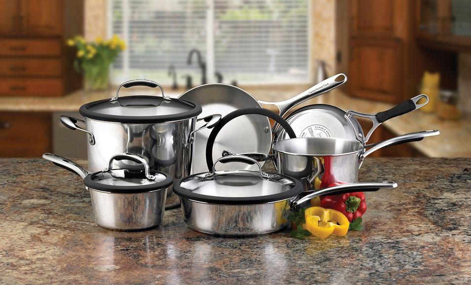 kitchenaid stainless steel cookware 10 piece