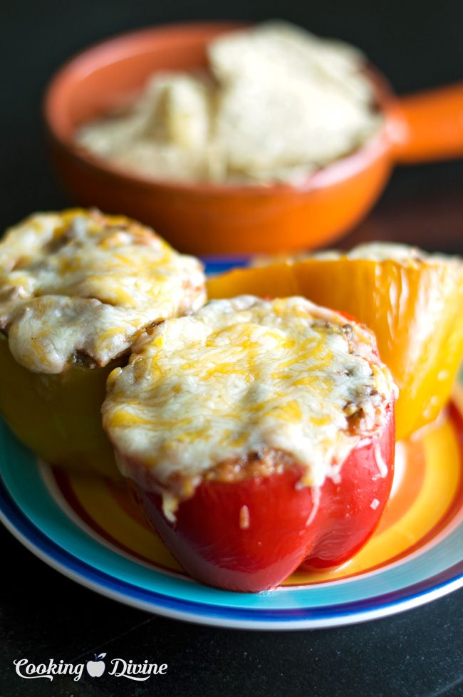 Mexican Stuffed Bell Peppers No Rice Recipe Stuffed Peppers Stuffed Bell Peppers Ground Beef Cooking Recipes
