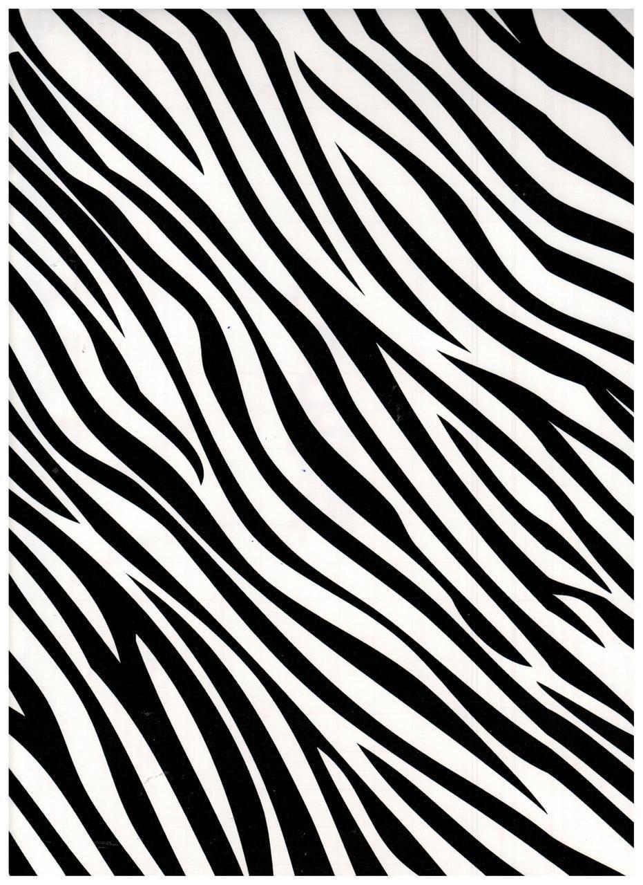 Zebra Black Contact Paper