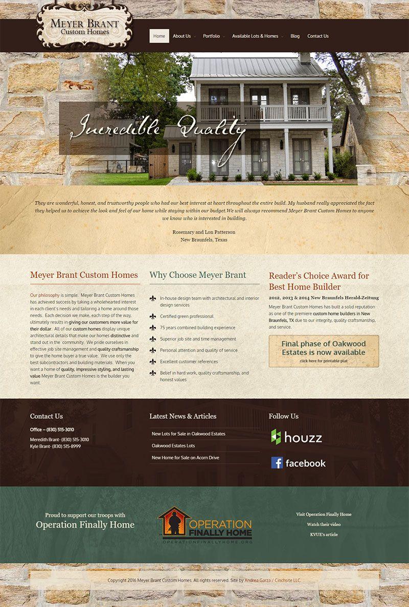Website Design U0026 Branding For A Custom Home Builder | Andrea Garza New  Braunfels Web Design