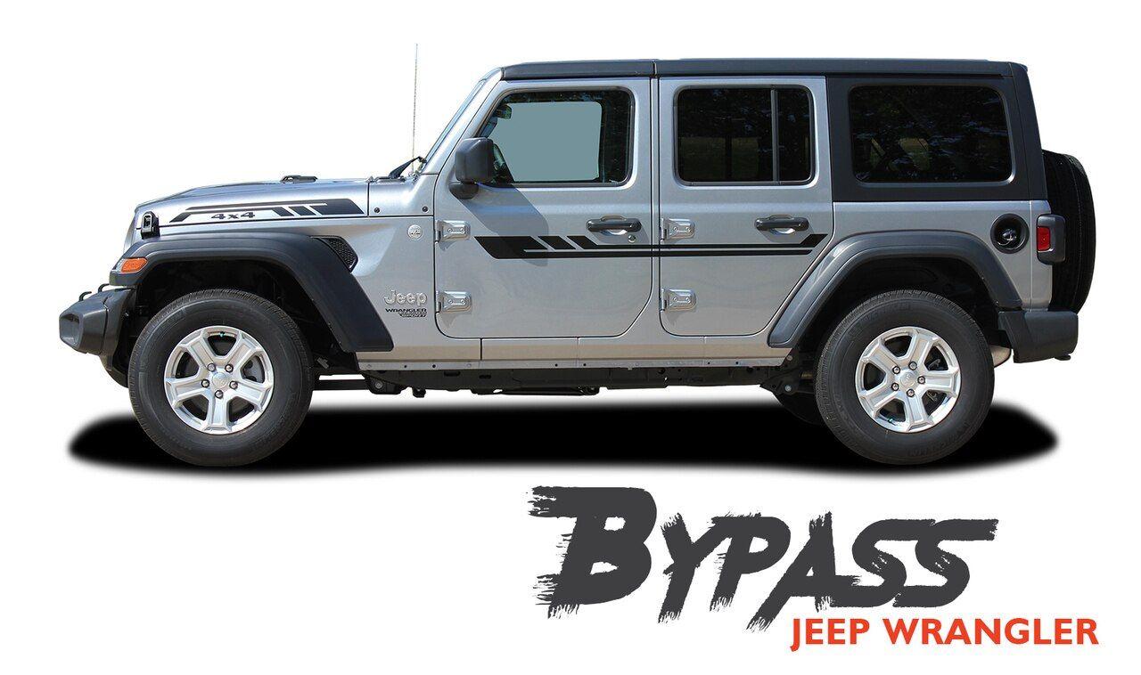 Jeep Wrangler Bypass Side Door Decals Body Stripes Vinyl Graphics Kit For 2018 2020 Models Vinyl Graphics Jeep Wrangler Jeep Wrangler Doors