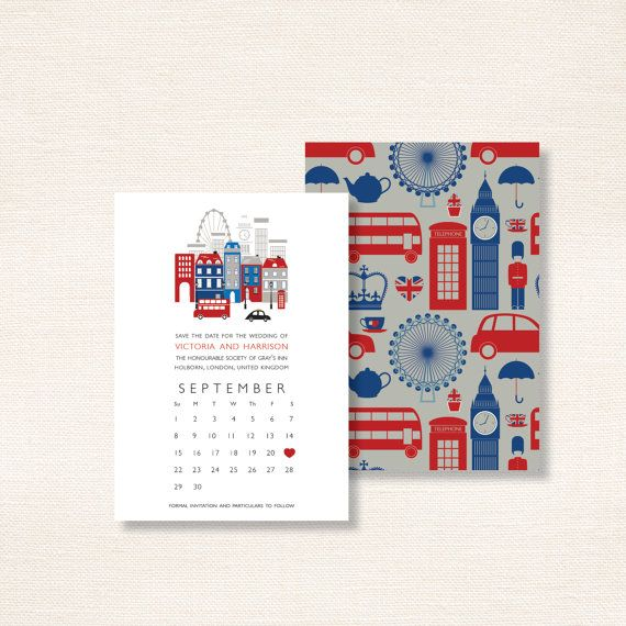 London theme save the date uk union jack inspired london calling london calling save the date uk union jack by seahorsebendpress 18337 reheart Choice Image