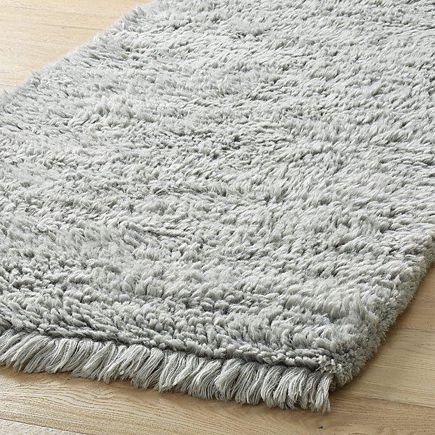 PlushWoolShagGryRun2p5X8ROF17 Ivory rug, Area rug