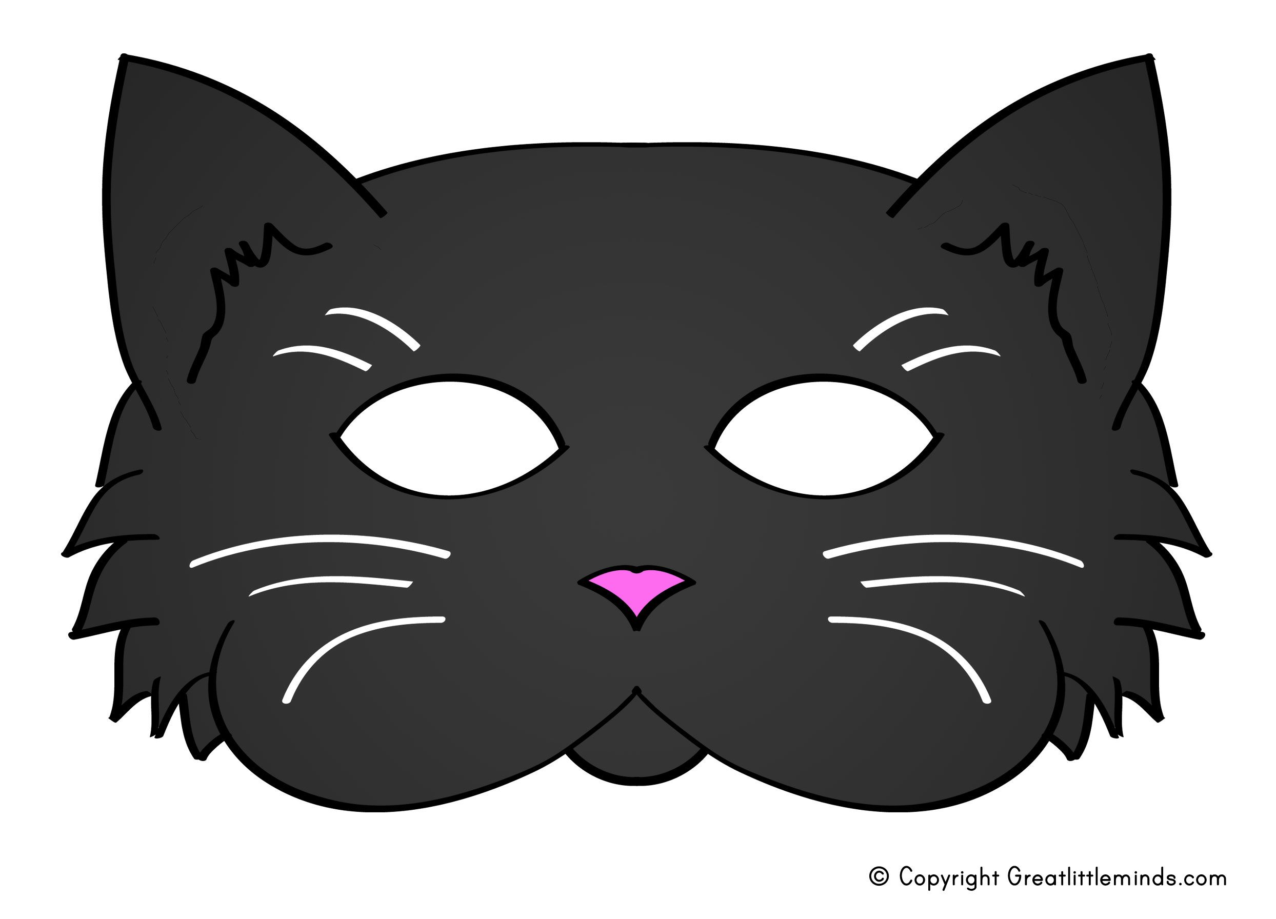 image relating to Cat Mask Printable named Pin as a result of Janell Jakub Brichacek upon Unsightly Duckling Cat mask