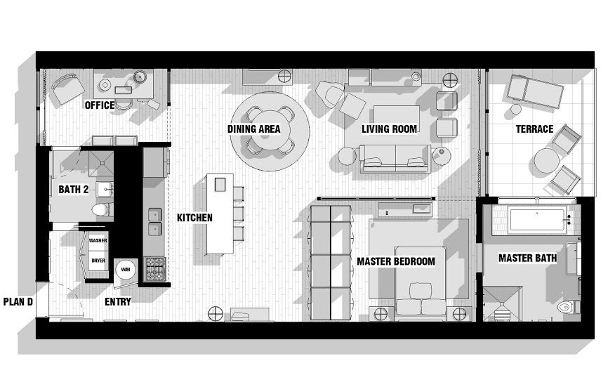 city loft floor plan