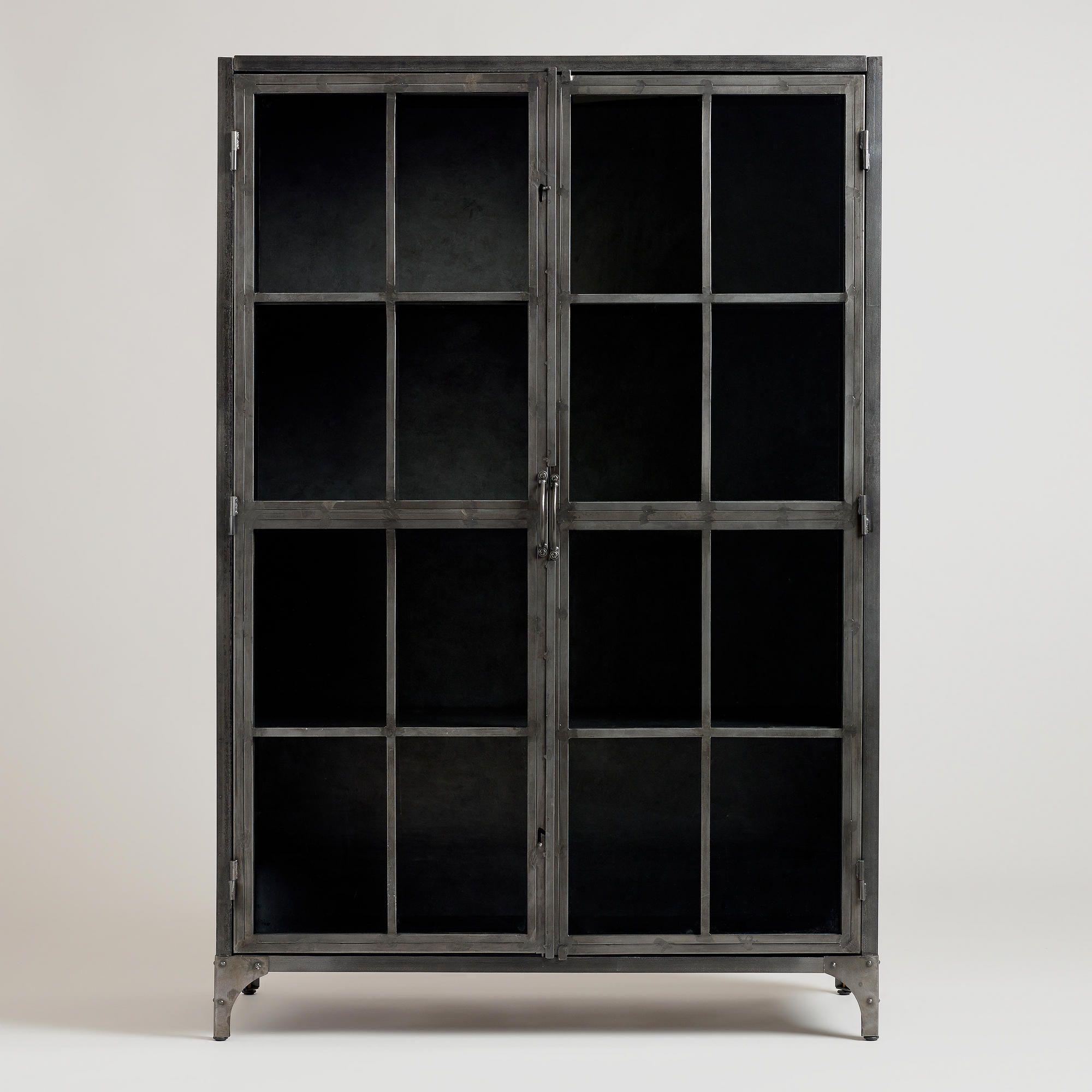 Cost Plus World Market Metal Display Cabinet Sku 484139 Http Www