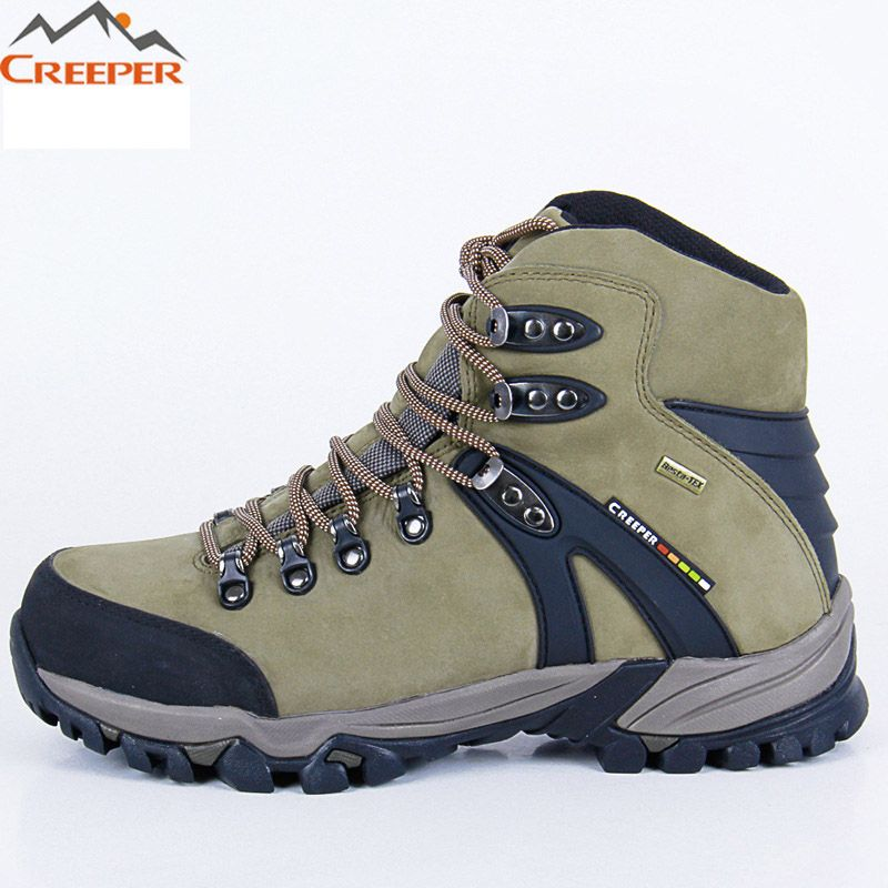 30fa36bd42f CREEPER Cowhide Leather Hiking Shoes Outdoor Sports Boots Trekking ...