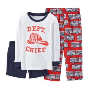a5bdf51c2483 Carter s® 3-pc. Mix-and-Match Fire Department Pajama Set - Boys 18 ...