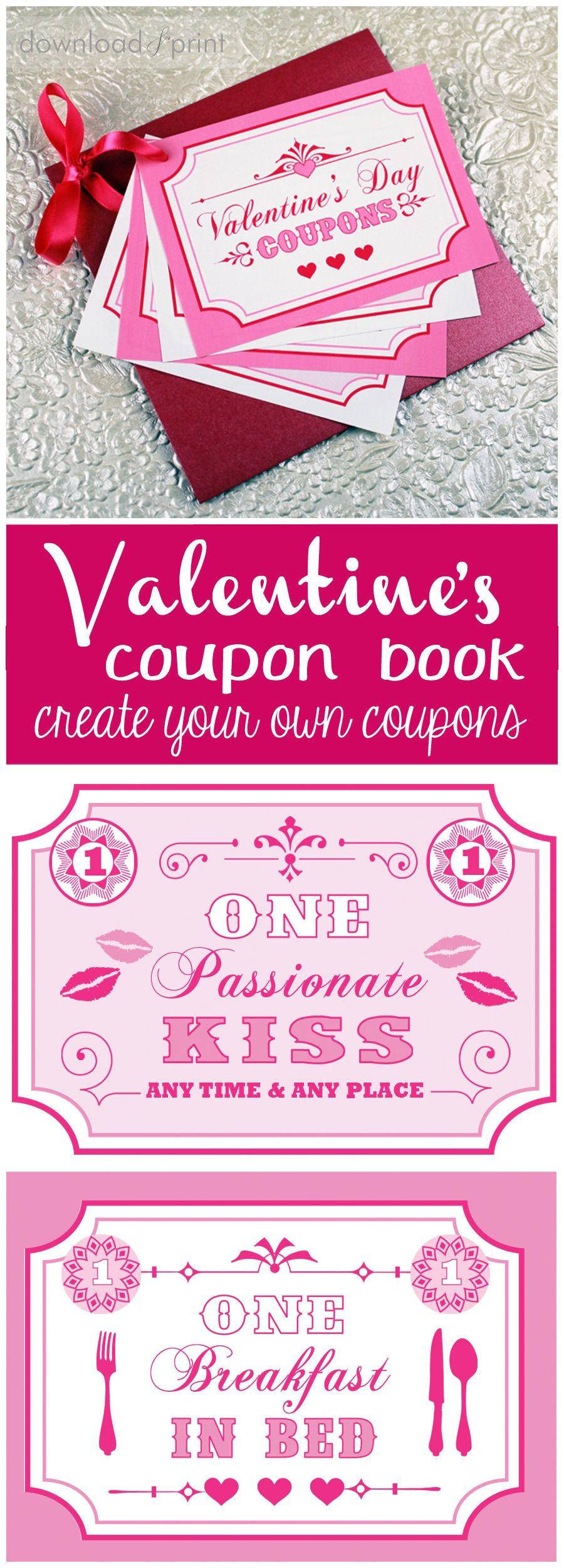 free printable coupon book for your sweetie use my coupon ideas or