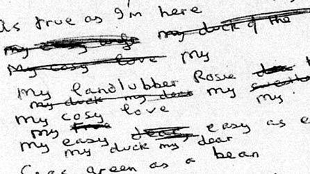Dylan Thomas writing
