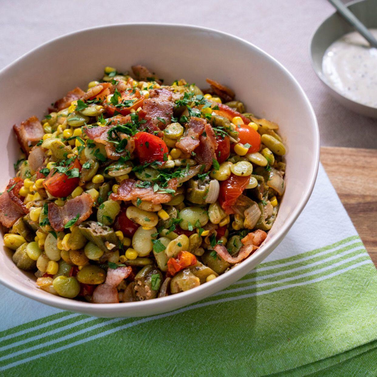 Succotash Recipe in 2020 Food network recipes