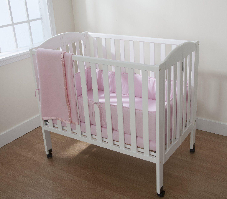 American Baby Company Cotton Percale 3 Pc Porta-Crib Set