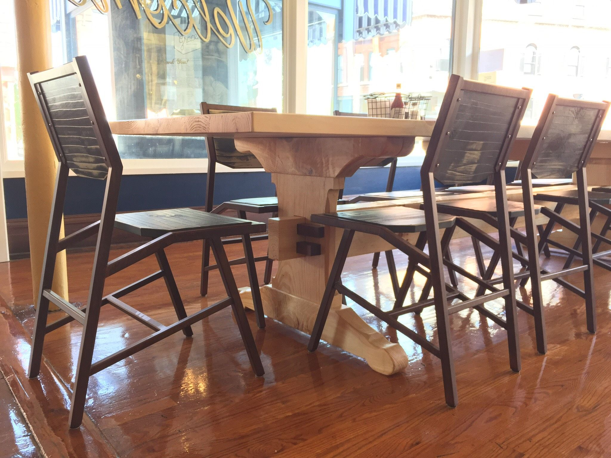 Genial Goebel Furniture   Castro Chair And Table Featured At Grace Meat + Three  #hospitalitydesign