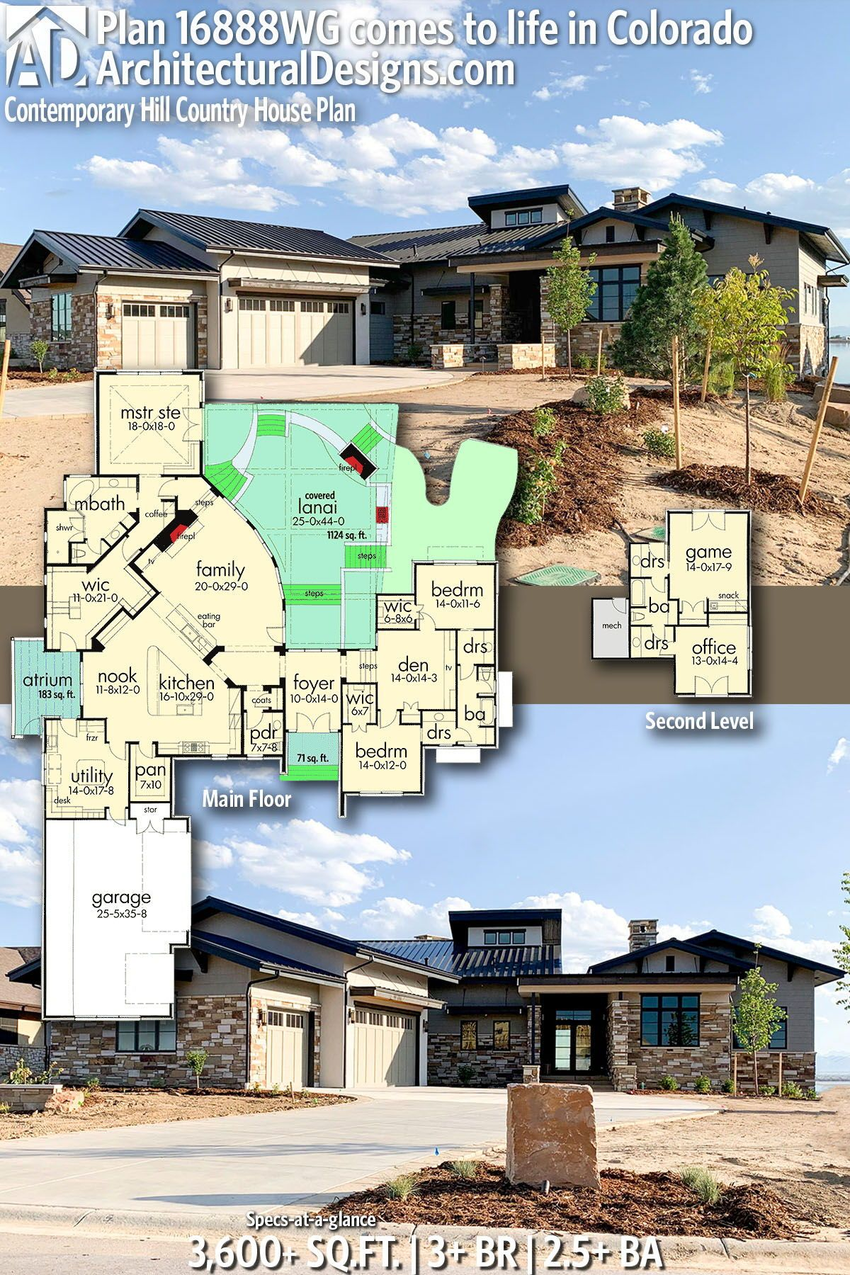 Plan 16888wg Contemporary Hill Country House Plan Country House Plan House Plans Country House Plans