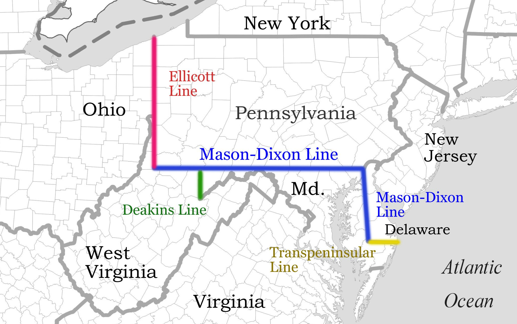 The MasonDixon Line Is Most Commonly Used To Separate The Free - 1861 us map mason dixon line