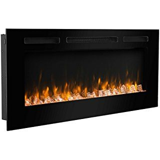 Puraflame 50 Alice In Wall Recessed Electric Fireplace Touch
