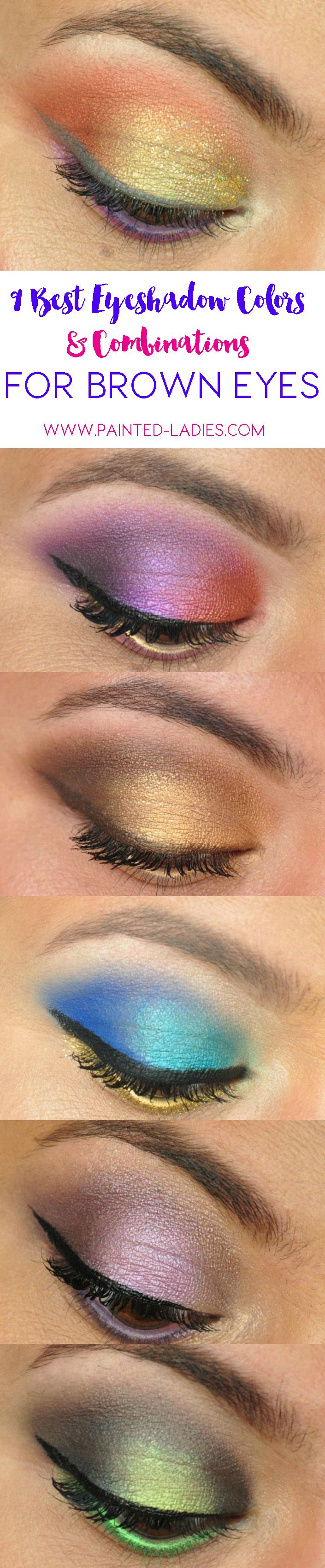 Best Eyeshadow Colors And Combinations For Brown Eyes