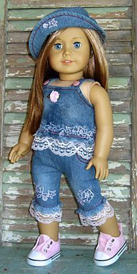 Denim outfit for American Girl doll #girldollclothes