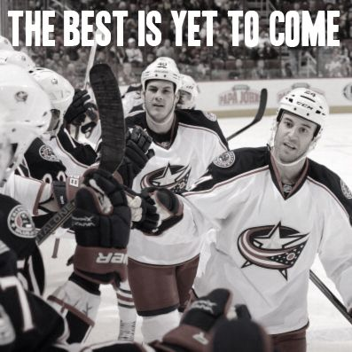 The Best Is Yet To Come Cbj Quotes Columbus Blue Jackets Hockey Girl Blue Jacket