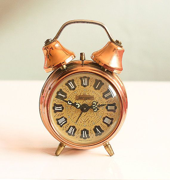 Vintage German Alarm Clock Mechanical twin bell by ...