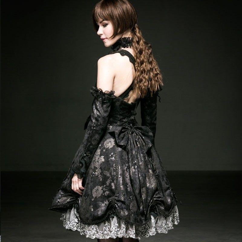 Pyon Pyon - Lolita Black Butterfly Dress LQ 068
