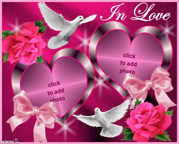 In Love Frame From Imikimi Com A Free Photo Montage Site