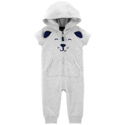 fe18d432953d Carter s 18M Dog Hooded Jumpsuit In Heather