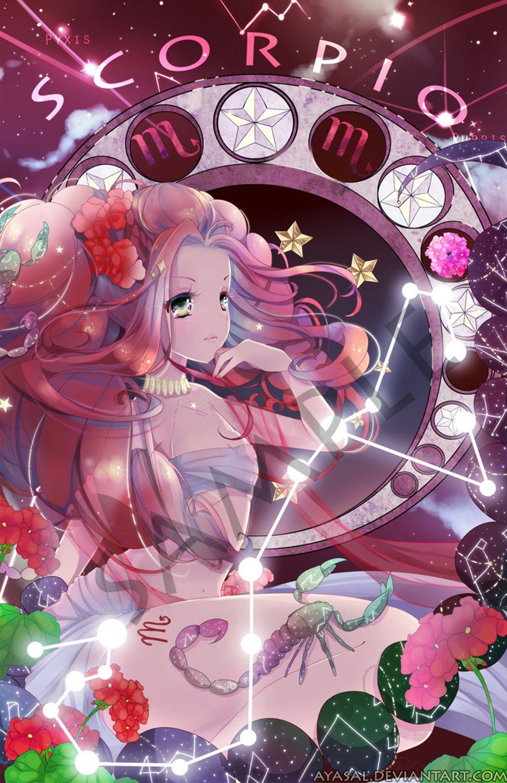 Scorpio Zodiacal Constellations Art Print Etsy In 2020 Anime Zodiac Constellation Art Zodiac Art