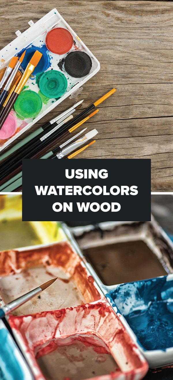 How To Use Watercolors On Wood Art Tutorials In 2019