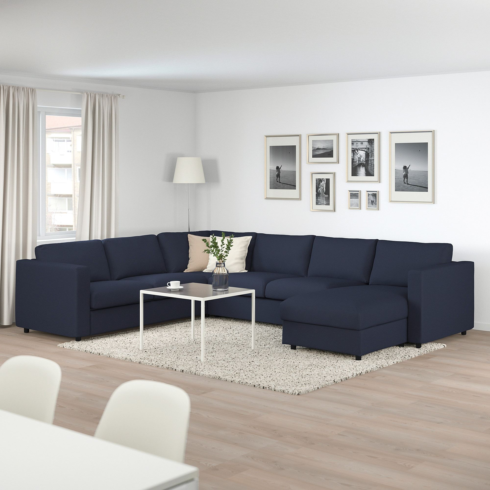 - IKEA - VIMLE Corner Sofabed W/chaise With Chaise, Orrsta Black