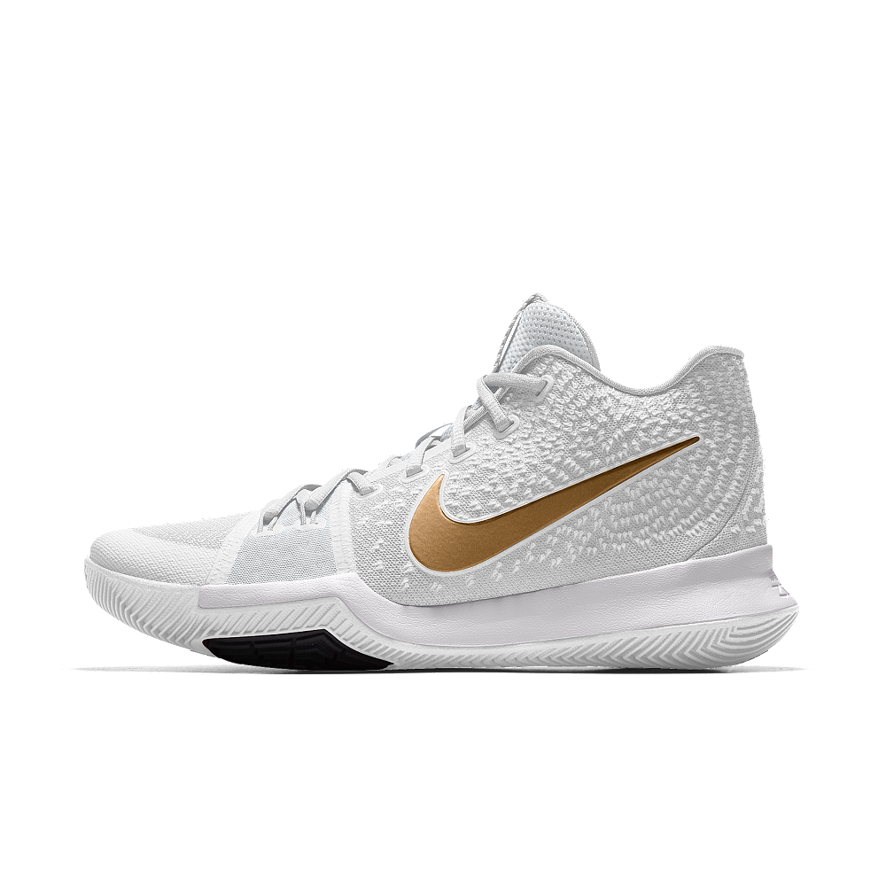 49b6ac607397 Nike Kyrie 3 iD Men s Basketball Shoe Size 10.5 (Gold)