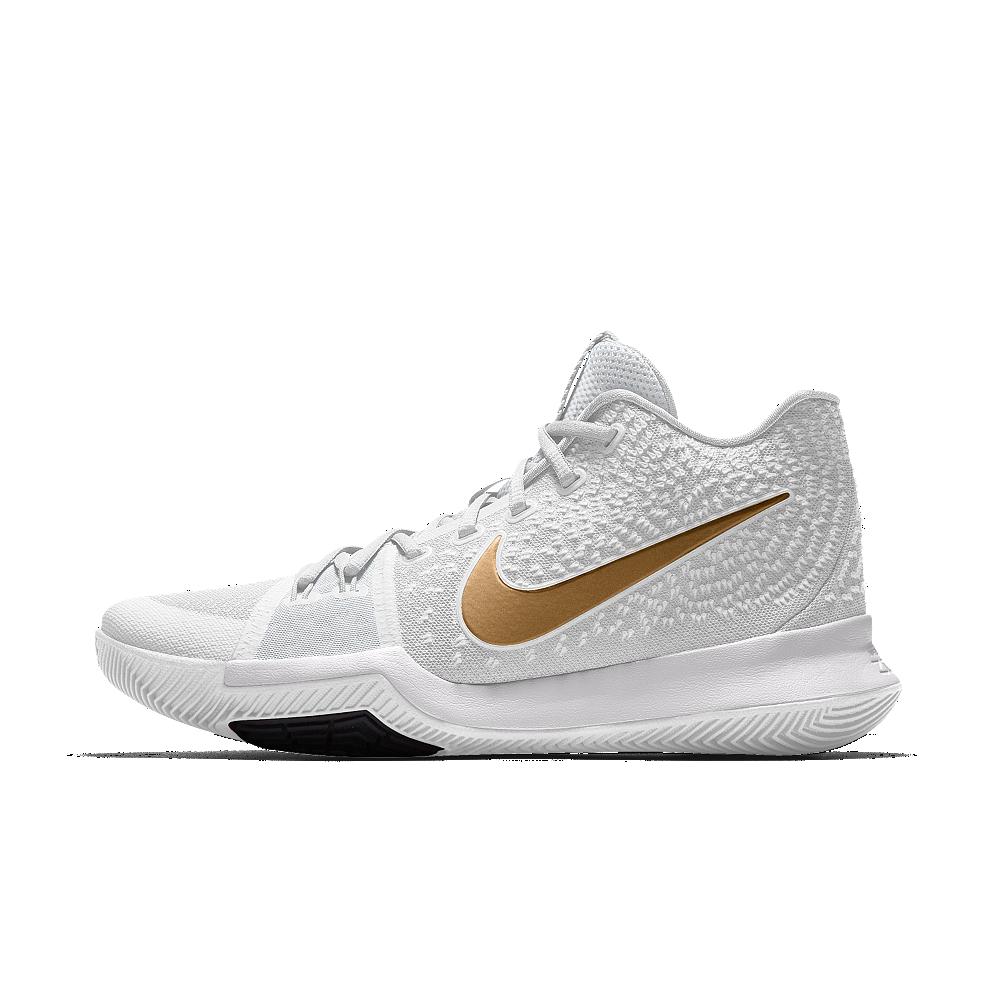 49b6ac607397 Nike Kyrie 3 iD Men s Basketball Shoe Size 10.5 (Gold)