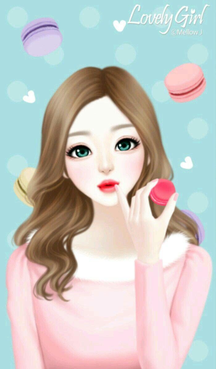 Wallpaper cute korean girl cartoon - Cartoon girl wallpaper ...
