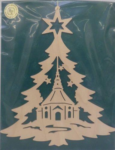 Fensterbild Tannenbaum Seiffener Kirche Original Handwerkskunst Erzgebirge Diy Weihnachten Holz Weihnachtsvorlagen