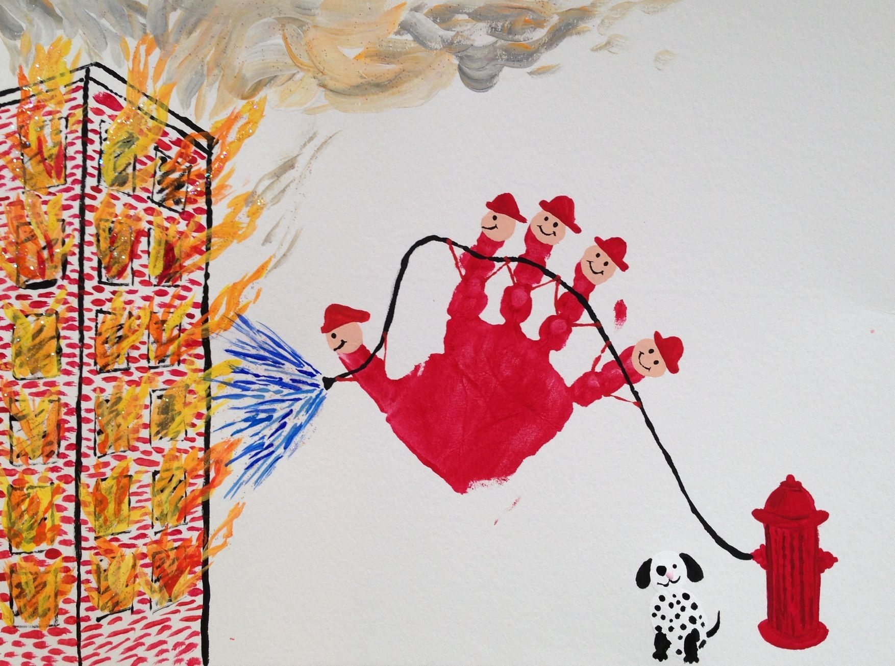 Firefighter Handprint By Madelyn