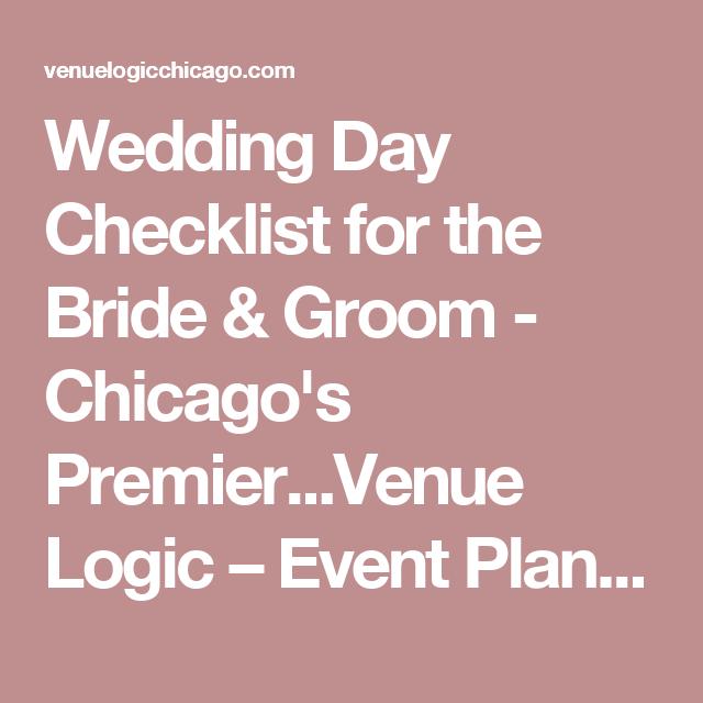Wedding Day Checklist For The Bride & Groom