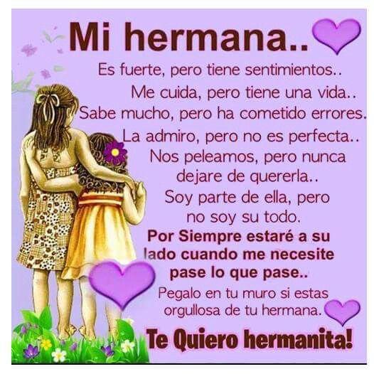 Hermana Frases Para Hermanas Mayores Imágenes De Cumpleaños Hermana Mensaje Para Mi Hermana
