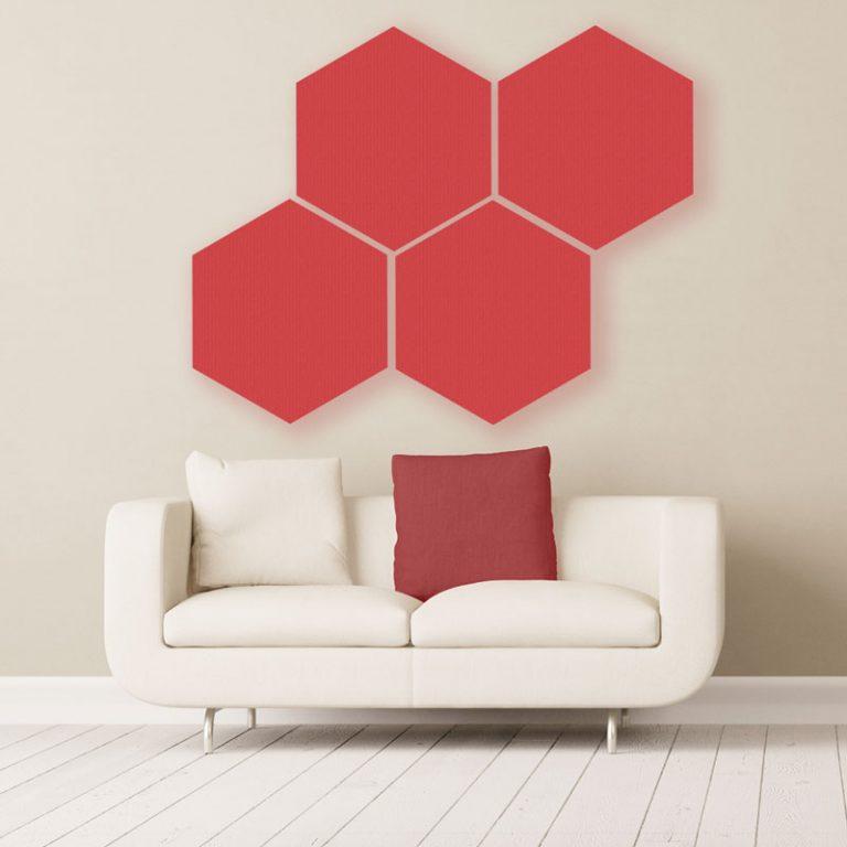 Gik Acoustics Hexagon Acoustic Panels Decorative Acoustic Panels Acoustic Panels Sound Panel Acoustic Panels Diy