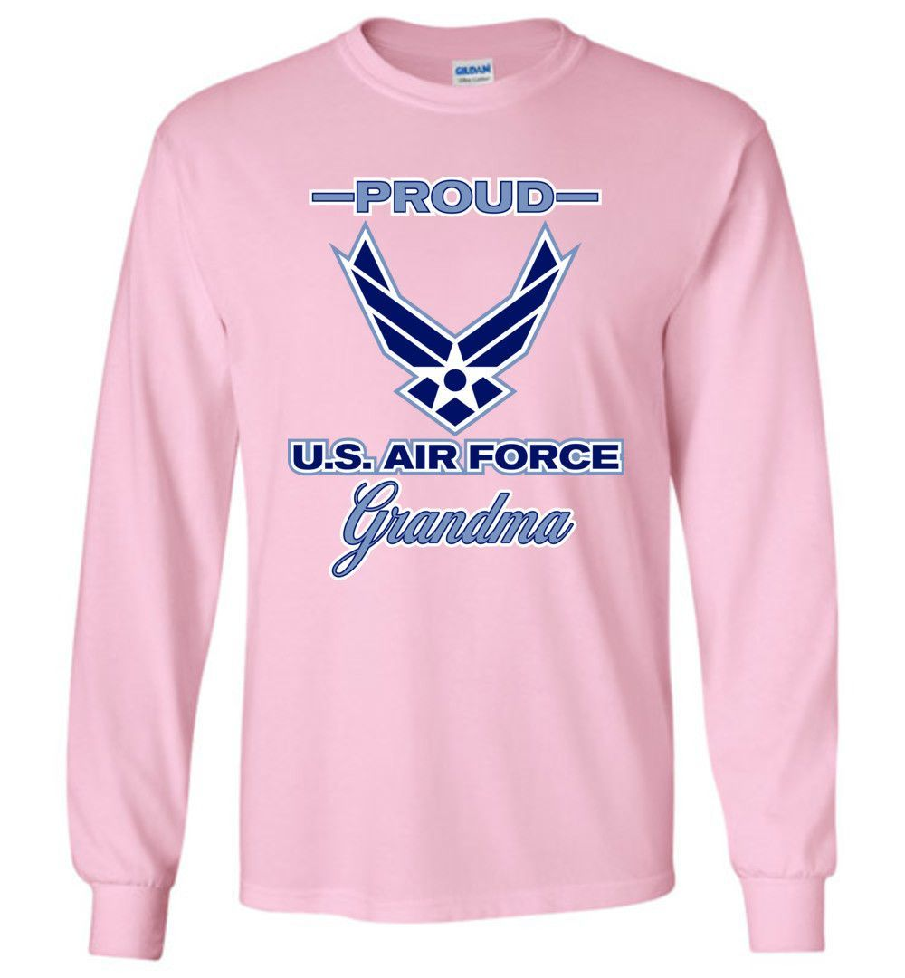Proud U.S. Air Force Grandma Gildan Long-Sleeve T-Shirt